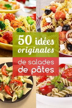 Pasta salads: more than 50 recipe ideas for you to tell - - Healthy Salads, Healthy Cooking, Healthy Recipes, Healthy Lunches, Pasta Recipes, Salad Recipes, Cooking Recipes, Batch Cooking, Summer Salads