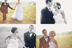 Natural wedding poses