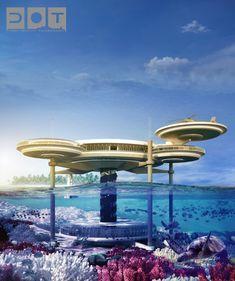 Hotel Submarino planeado para construir en Dubai.