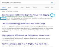 Ikuti langkah-langkah ini jika ingin artikel postingan blog cepat di index google sehingga bisa mendapatkan pengunjung
