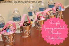 Frugal Slumber Party Ideas