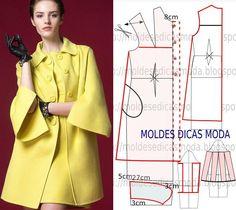 Interesting coat pattern from MOLDE DE CASACO