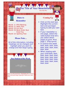 Halloween Theme  Newsletter Template Word  Newsletter Templates