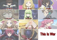 Code Geass, This is War. I love this very much. 30 Seconds to Mars and Code Geass... Just awesome