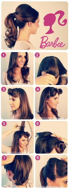 Barbie Hairstyle how to make