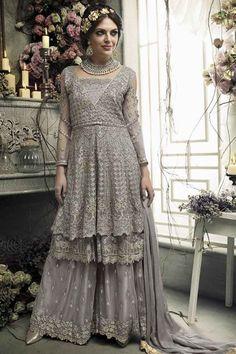 Shop for designer salwar kameez with latest celebrity designs, including anarkali suits, dresses, lehenga cholis and sarees at great discounts only at Lashkaraa Designer Salwar Kameez, Designer Anarkali, Ladies Salwar Kameez, Designer Gowns, Anarkali Suits, Sharara Suit, Pakistani Formal Dresses, Eid Dresses, Party Dresses