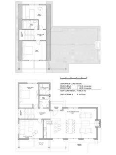 Plano constructivo de vivienda de 168 m2