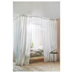 VIDGA Corner room divider, white - IKEA Cheap Room Dividers, Closet Dividers, Bedroom Divider, Bedroom Decor, Bedroom Kids, Ikea Room Divider, Kids Room, Room Divider Curtain, My New Room