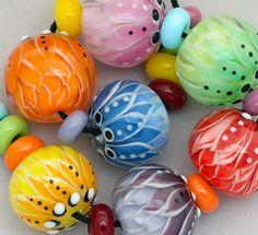 DSG Beads~Debbie Sanders Handmade Artisan Lampwork Glass Beads ~Rainbow~ #DSGBeads #Lampwork