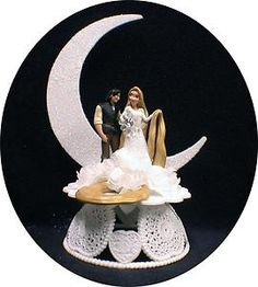 Possible cake topper. Love that the moon's in it. <3