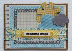 Sending Hugs Card by Kim Holmes via Jillibean Soup Blog