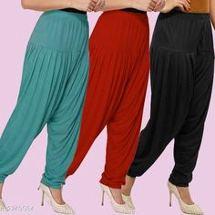 Ethnic Bottomwear - Patiala Pants Trendy Viscose Women's Patiala Salwar Pant Fabric: Viscose Size: XL - 32 in, XXL - 34 in Length: Up To 40 in Colour: White - Skin - Black Type: Stitched Description: It Has 3 Piece Of Patiala Salwar Pattern: Solid Sizes Available: XL, XXL *Proof of Safe Delivery! Click to know on Safety Standards of Delivery Partners- https://ltl.sh/y_nZrAV3  Catalog Rating: ★4.2 (2305)  Catalog Name: Fabulous Viscose Women's Patiala Pants Combo Vol 6 CatalogID_372617 C74-SC1018 Code: 474-2749084-
