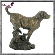 Labrador Cold Cast Bronze Dog Sculpture by David Geenty. This stunning Labrador sculpture by David Geenty shows off the breed in all their true beauty. Produced in cold cast bronze and standing at 24cm high.
