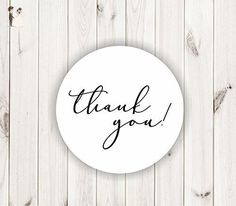 thank you wedding stickers white seals thank you 144 labels - Wedding guestbooks (*Amazon Partner-Link)