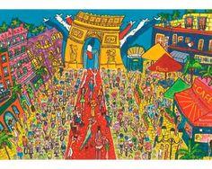 Puzzle Jumbo El Arco del Triunfo, París de 1000 Piezas