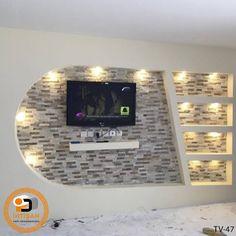 Tv Ünitesi Modelleri   İhtişam Yapı Dekorasyon Gypsum Ceiling Design, Pop False Ceiling Design, House Ceiling Design, Ceiling Design Living Room, Tv Wall Design, Tv Unit Interior Design, Hall Interior, Tv Unit Design, Tv Stand Decor