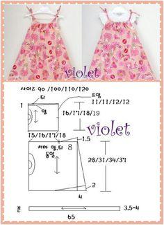 sew clothes for Deniz Baby Dress Patterns, Kids Patterns, Doll Clothes Patterns, Sewing Clothes, Baby Sewing Projects, Sewing For Kids, Little Girl Outfits, Kids Outfits, Japanese Sewing Patterns