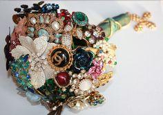 Brooch Bouquet Chanel inspired! baublesandbrides.com