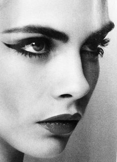 Cara Delevingne Statement eyebrows, eyes and lips.