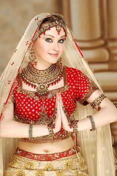 Cute in Dulhan getup, via Flickr.