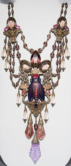 Vintage Czech Glass Necklace...Gorgeous!