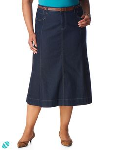 Love long denim skirts!  Gored Denim Skirt