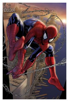 Spiderman - morning swinger | Pencils: McNiven | Inks: Dexter Vines | Colors: spidermanfan2099
