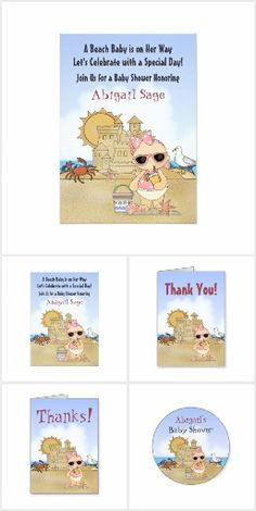 Cool Beach Baby ~ Baby Shower Supplies for Girls