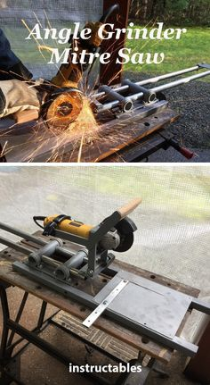 Trash to Angle Grinder Mitre Saw #workshop #tools