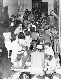 1947 Florida Memory - First student registration at Florida State University - Tallahassee, Florida