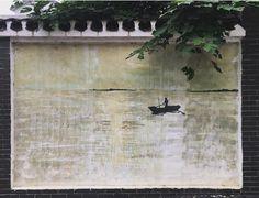 Blek Le Rat in Jiangxia, China, 2017 Blek Le Rat, China 2017, Rats, Street Art, Painting, Painting Art, Paintings, Painted Canvas, Drawings
