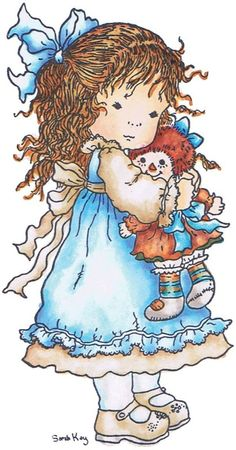 Sarah Kay, artist, girl Sarah Key, Cute Images, Pretty Pictures, Betty Boo, Raggedy Ann And Andy, Holly Hobbie, Digi Stamps, Copics, Cute Illustration