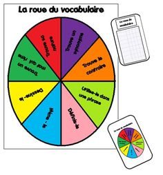 La roue du vocabulaire : petit jeu de réinvestissement