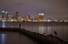San Diego... Night life. by Alexander Tietz, via 500px, just pinned this cuz I know Steve took this exact shot too.