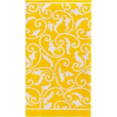 Sunshine Yellow Ornamental Scroll Guest Towels 16ct - Party City