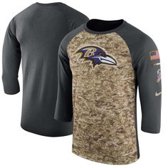 15979f08d251 Tampa Bay Buccaneers Nike Salute to Service Sideline Legend Performance  Three-Quarter Sleeve T-Shirt – Camo/Anthracite nike Tampa Bay Buccaneers