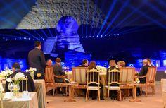 Merkel and Sisi's Date Night at the Pyramids 2-3-2017