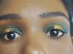 Autumn makeup eyelook using Makeup Revolution (MUR) I Heart Makeup Mint Chocolate palette