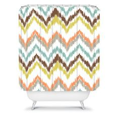 Andrea Victoria Garden Breeze Shower Curtain #tribal #navajo #eclectic #colorful