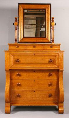 Empire Tiger Maple & Cherry Dresser
