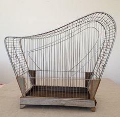 ART Deco Bird Cage Chrome MID Century MOD Birdcage   eBay