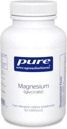 Pure Encapsulations - Magnesium (Glycinate) - Supports Enzymatic and Physiological Functions*. Glycinate has a preference for liver and muscle tissue.