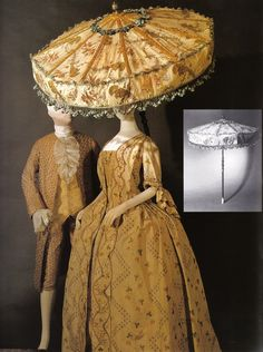 1760s his and hers ensembles with a fabulous umbrella!