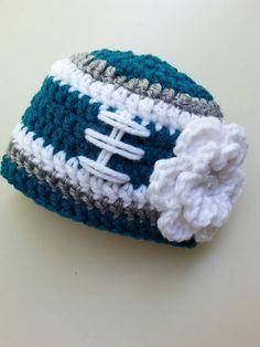 Baby Girl Philadelphia Eagles Hat, Newborn Eagles Hat, Infant Crochet Eagles…