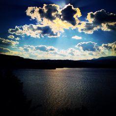 What a great view for a coffee break( Marathon lake, Greece)