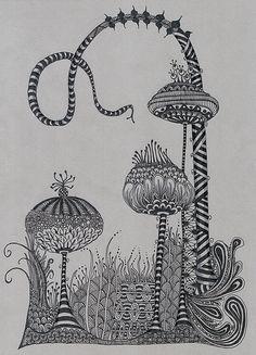 city imaginary landscapes, teach alongside dr suess, juan miro, line, texture, pattern | kosmiczny ogrod
