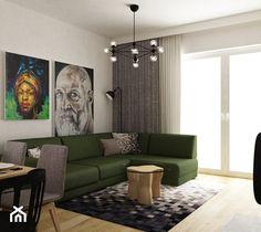 dom w okolicy warszawy 150m2 - Średni salon z jadalnią, styl nowoczesny - zdjęcie od Grafika i Projekt architektura wnętrz Couch, Dom, Furniture, Home Decor, Settee, Decoration Home, Sofa, Room Decor, Home Furnishings