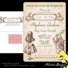 alice in wonderland baby shower invitations template KA1tTSVv