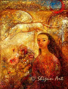 """Gateway"" Oil on linen 2006. 22x28 © Shijun Munns. 黄诗筠  www.shijunart.com  http://fineartamerica.com/profiles/shijun-munns.html  www.facebook.com/shijunart   #painting  #Art #OilPaintings #artist #shijunart #shijunmunns #artlanta #atlantaartist  #oilpainter #Garden"