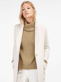 White coat Massimo Dutti